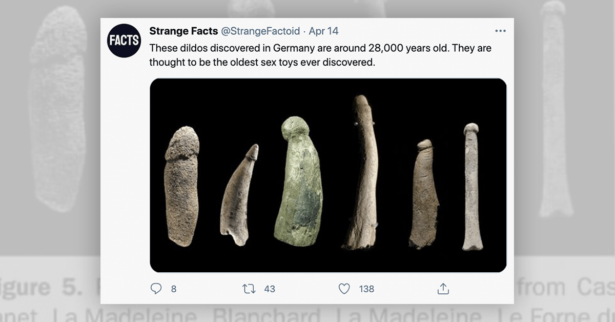 Are These Dildos Really 28,000 Years Old?