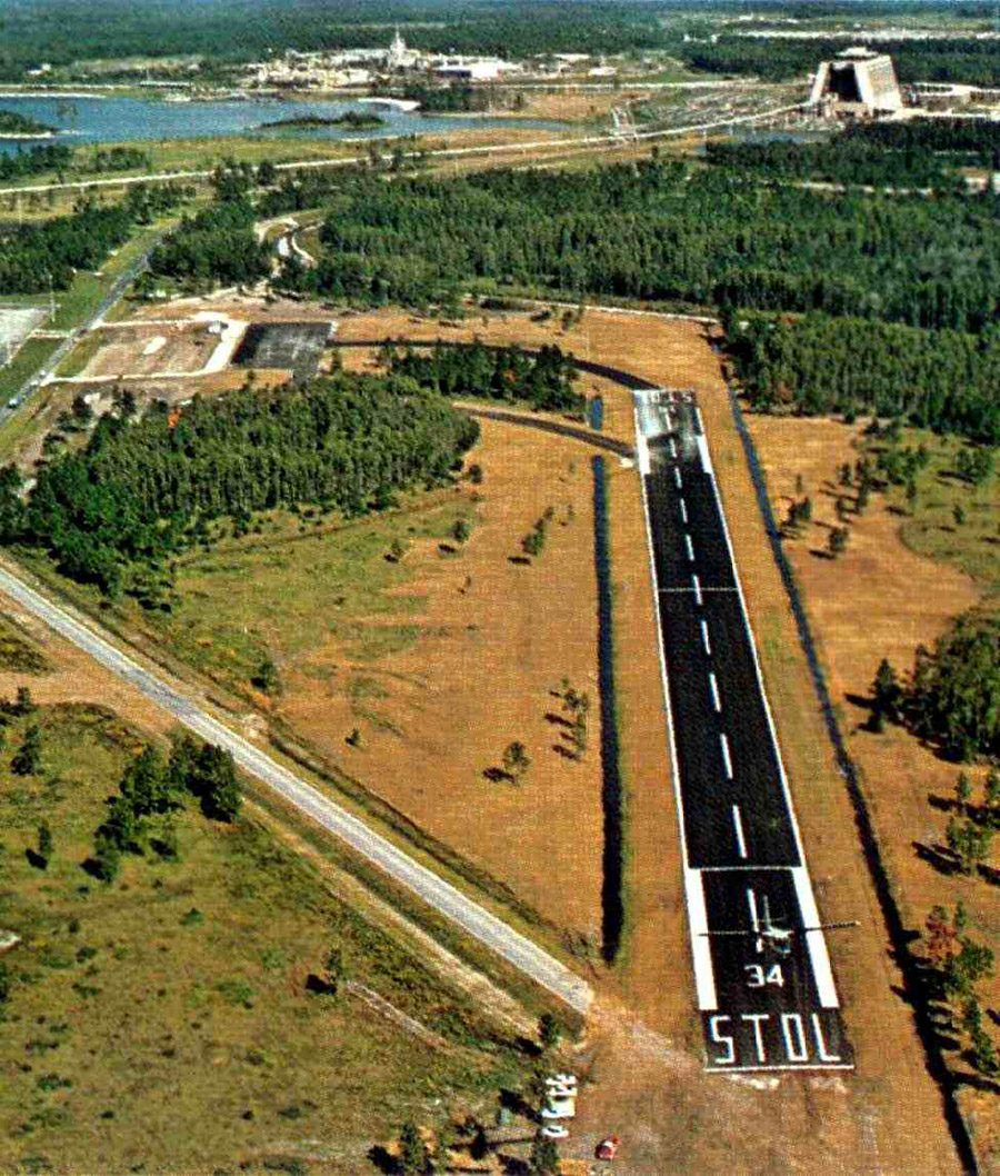 An airport that once existed at Walt Disney World is now abandoned.