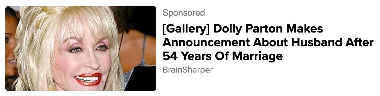Dolly Parton did not make an announcement about her husband after 54 years of marriage.