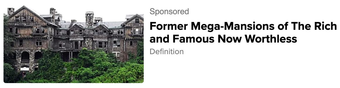 The abandoned Bennett College aka Bennett School for Girls did not become a mega mansion.