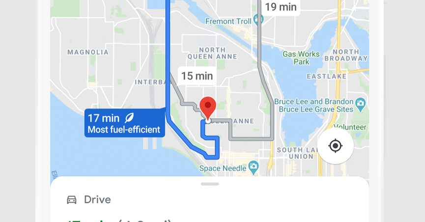 Google Maps will update its app to no longer show the fastest route but instead show fuel-efficient and eco-friendly routes for navigation.