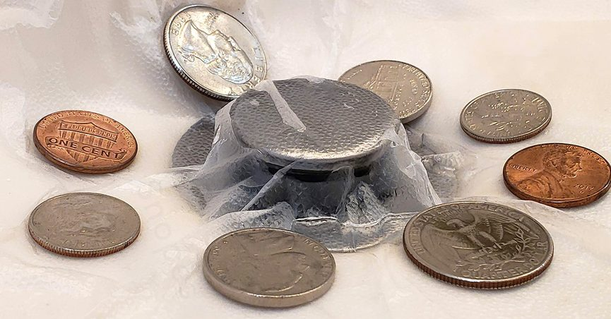 Hotel guests likely should not always put coins in the sink.