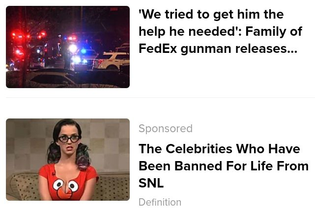 Katy Perry was not banned by SNL despite the claim made in an online ad.