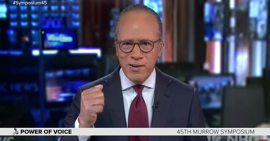 Lester Holt said fairness is overrated which was stripped of its context by subsequent stories.