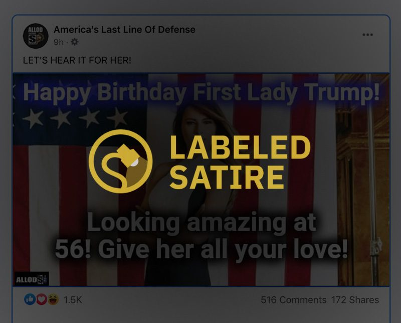 Melania Trump's birthday was not on April 2 2021 and she was not turning 56.