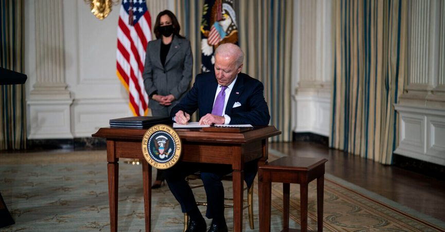 President Joe Biden sent out a letter about stimulus check payments that was sealed in an IRS envelope and had The White House letterhead.