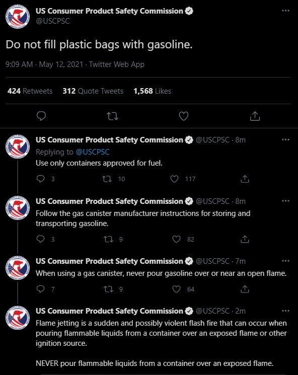 Are People Hoarding Gas in Plastic Bags During the Shortage?