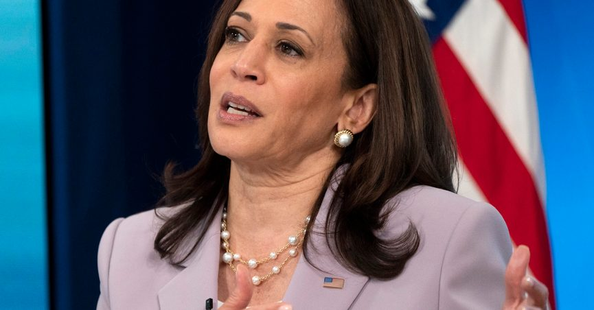 Vice President Kamala Harrisspeaks about voting rights, Wednesday, June 23, 2021, from the South Court Auditorium on the White House complex in Washington. (AP Photo/Jacquelyn Martin)