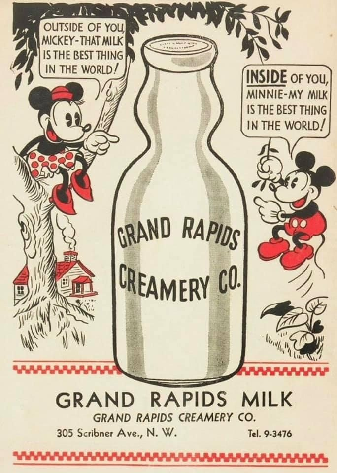 mickey mouse creamery ad