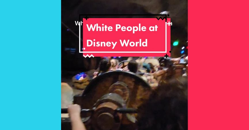 Walt Disney World Resort guests sang Sweet Caroline on the Seven Dwarfs Mine Train in Fantasyland at Magic Kingdom and it was described as when white people get stuck on a ride at Disney World.
