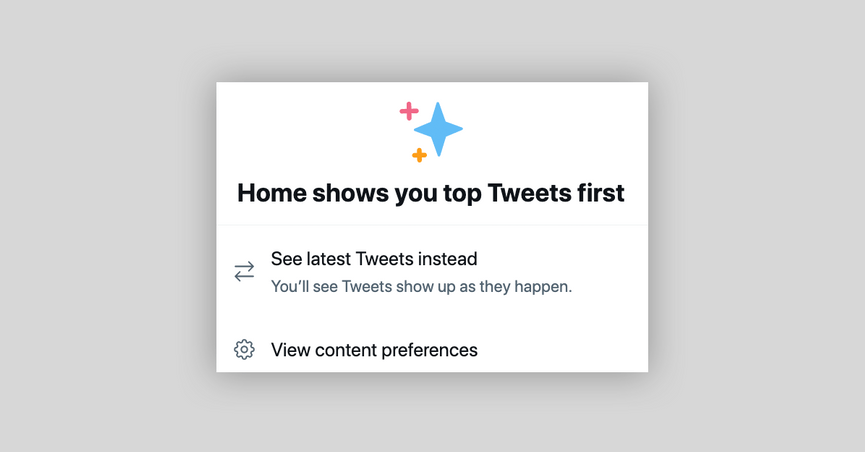 Twitter story about chronological tweets and latest tweets.