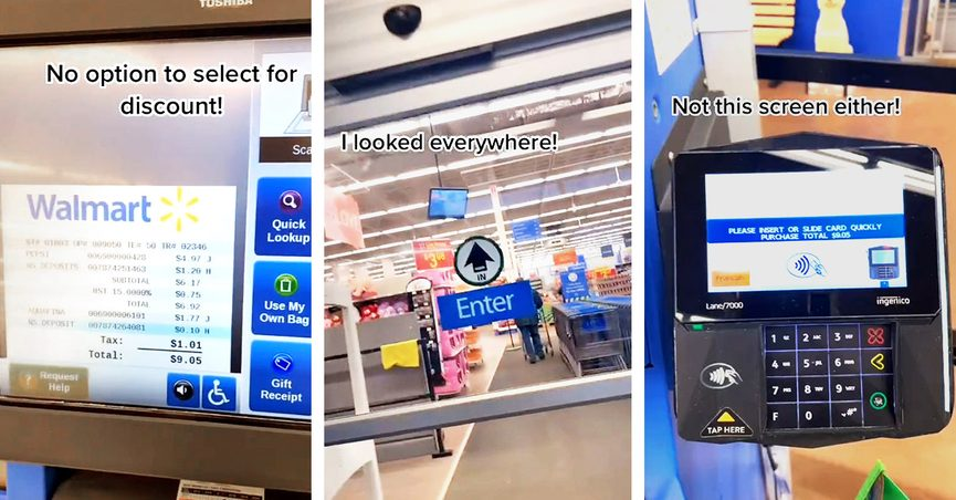 A Walmart hoax on TikTok claimed that a four-digit discount code could be entered at self-checkout.