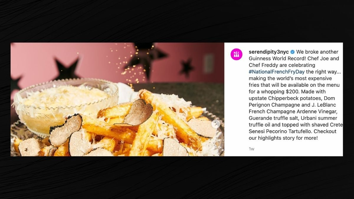 NYC Restaurant Sets World Record for Priciest Fries - snopes