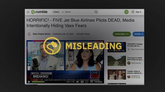 Five JetBlue Pilots Did Not Die From the COVID-19 Vaccine.