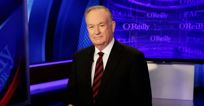 """FILE - In this Thursday, Oct. 1, 2015, file photo host Bill O'Reilly of """"The O'Reilly Factor"""" program, on the Fox News Channel, poses for photos, in New York. """"The View"""" canceled a planned appearance Wednesday, July 21, 2021, by a woman who settled a sexual harassment lawsuit against O'Reilly, after the former Fox News Channel personality sought and received a restraining order against her. (AP Photo/Richard Drew, File)"""