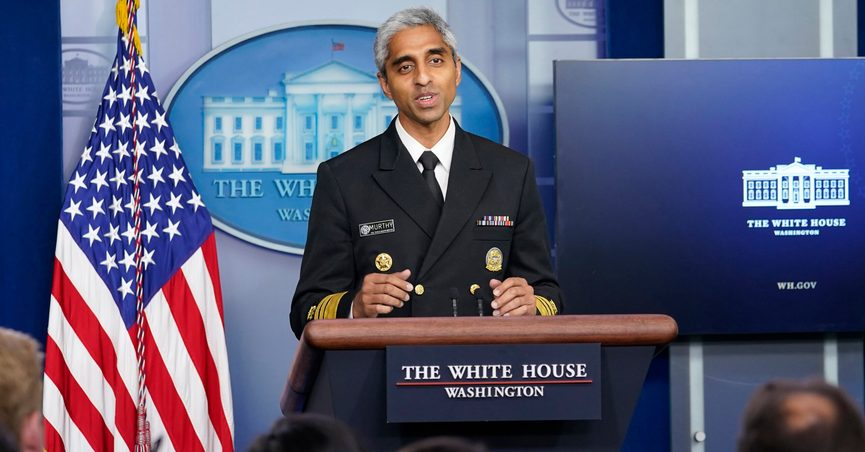 FILE - In this Thursday, July 15, 2021 file photo, Surgeon General Dr. Vivek Murthy speaks during the daily briefing at the White House in Washington. Murthy said Sunday, July 18 that he's concerned about what lies ahead with cases of COVID-19 increasing in every state, millions still unvaccinated and a highly contagious virus variant spreading rapidly. (AP Photo/Susan Walsh)