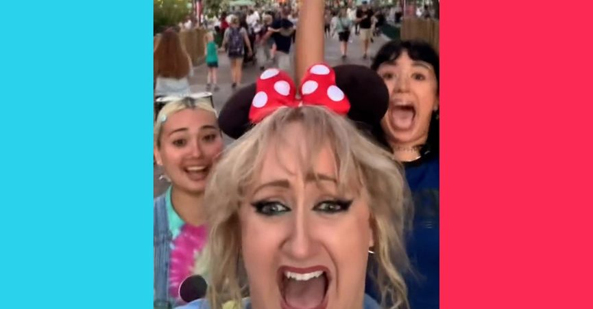 Brittany Broski aka Brittany Tomlinson saw fans in Disneyland and greeted them and was in one of their TikTok videos where they all geeked out.