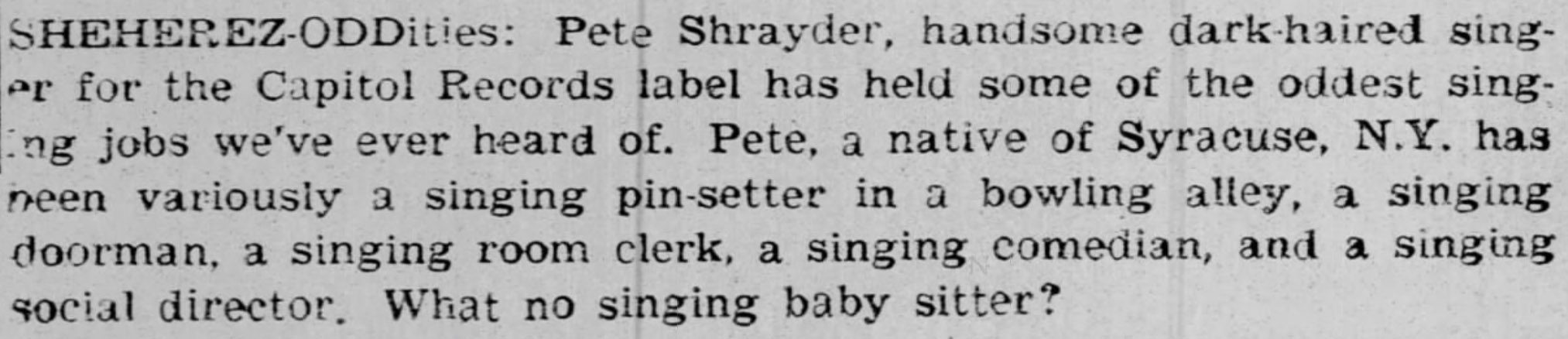Pete Shrayder and his song Wheres the Girl for Me reemerged on TikTok more than 60 years after it was first released.