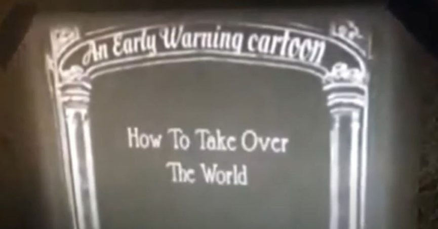An early warning cartoon predicting how a planned pandemic would be used to take over the world was created in the 1930s.