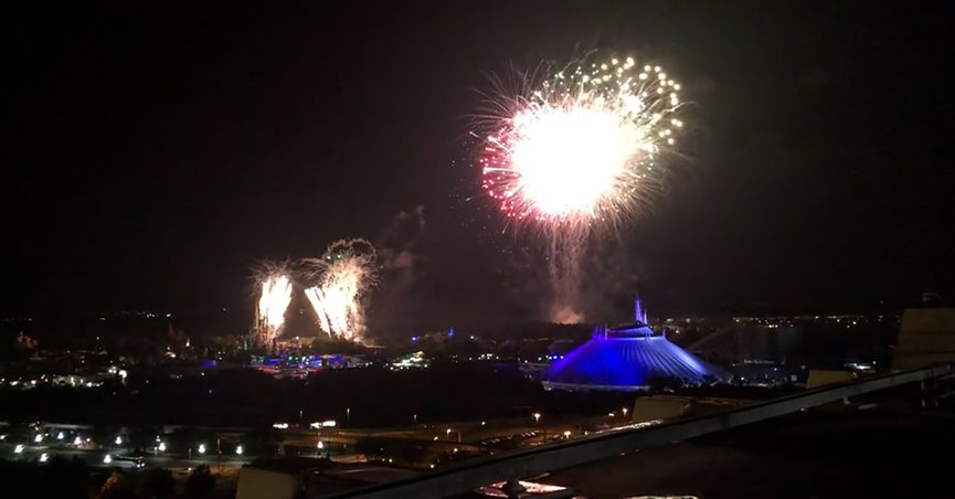 Happily Ever After fireworks finale at Magic Kingdom at Walt Disney World Resort was posted to TikTok from Disneys Contemporary Resort at California Grill.