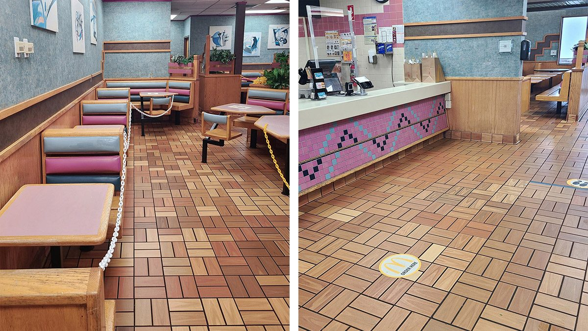 An abandoned McDonalds restaurant was explored by an urban explorer in urbex fashion on TikTok and YouTube by the name of Triangle of Mass.