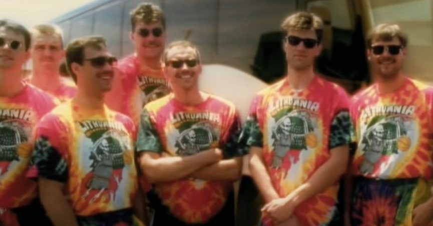 The claim is that the Grateful Dead funded Lithuania's basketball team at the 1992 Olympics and provided the players with tie-dyed jerseys.
