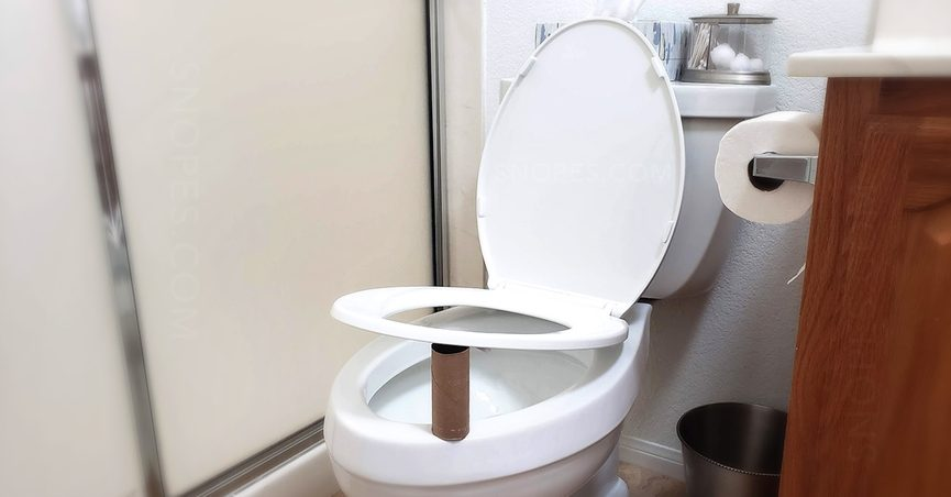 An ad said to always place a toilet paper roll under the toilet seat at night and promised to say why but did not.