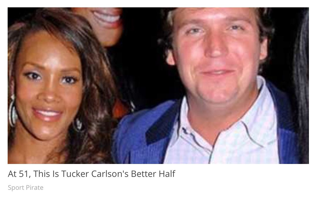 Tucker Carlson and Vivica A. Fox were featured in an online ad that claimed they were in a romantic relationship or married.
