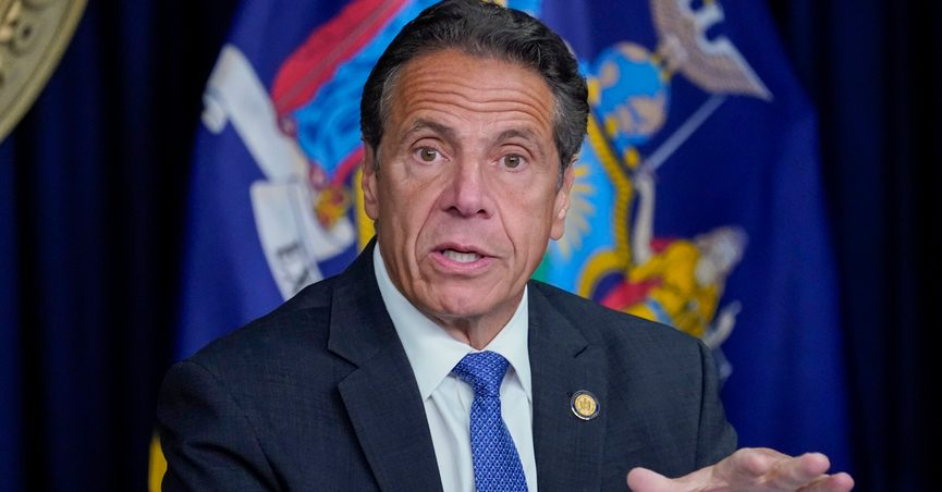FILE - In this June 23, 2021 file photo, New York Gov. Andrew Cuomo speaks during a news conference in New York. Eleven women have described to investigators hired by the New York attorney general's office how Gov. Andrew Cuomo's sexual harassment of them made them feel. Cuomo has denied that he sexual harassed or inappropriately touched anyone. (AP Photo/Mary Altaffer, File)