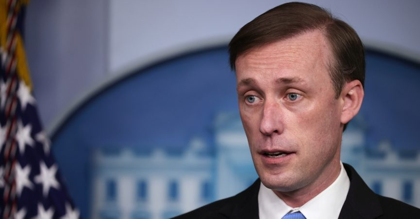 """National Security Advisor Jake Sullivan said that despite extensive U.S. funding, equipping, and training of Afghan security forces, """"we could not give them the will"""" to fight the Taliban."""