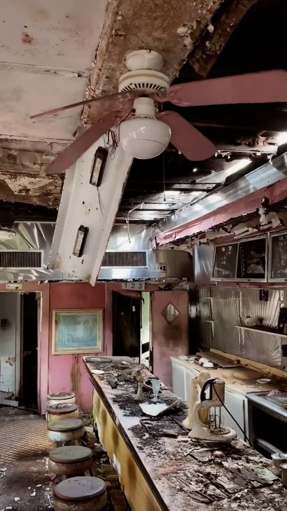An abandoned 1950s wasteland diner was part of a new TikTok video that showed an old diner in Buffalo New York.