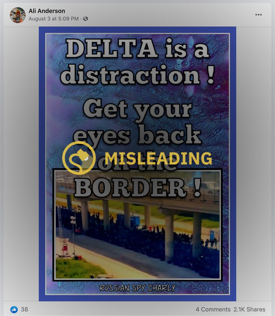 A Facebook meme misleadingly claimed that the Delta variant for COVID-19 was a distraction.