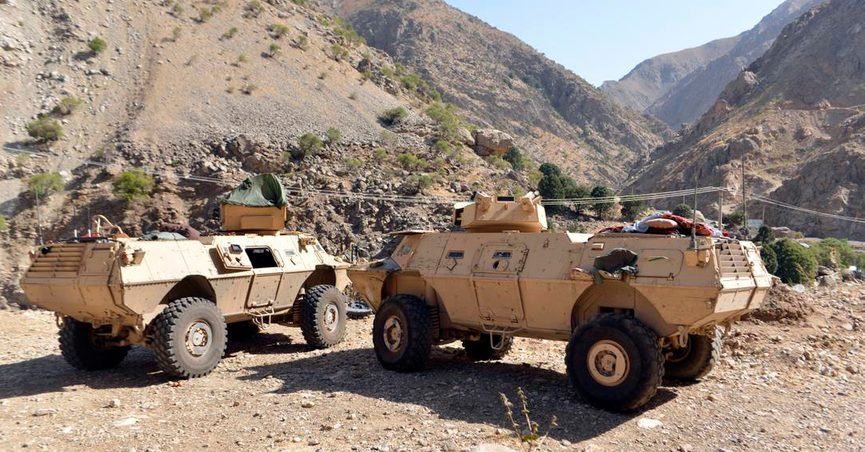 FILE - In this Aug. 25, 2021, file photo, armored vehicles are seen in Panjshir Valley, north of Kabul, Afghanistan. The Taliban said on Monday, Sept. 6, 2021, they have taken control of Panjshir province north of Kabul, the Afghan capital. The province was the last holdout of anti-Taliban forces in the country and the only province the Taliban had not seized during their sweep last month. (AP Photo/Jalaluddin Sekandar)