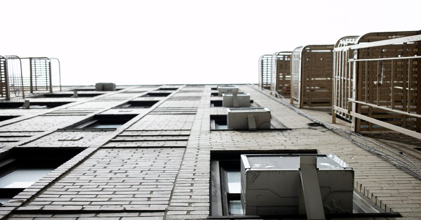 This May 16, 2021, photo shows window air conditioners in New York. In the first Biden administration rule aimed at combating climate change, the Environmental Protection Agency is proposing to phase down production and use of hydrofluorocarbons, highly potent greenhouse gases commonly used in refrigerators and air conditioners. (AP Photo/Jenny Kane)