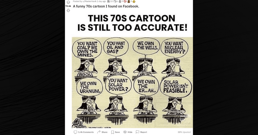 """""""Still too accurate!"""" said one internet user of the satirical cartoon, which regained prominence online in September 2021."""