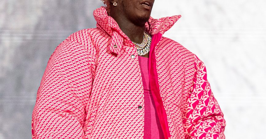 FILE - Young Thug performs at the Lollapalooza Music Festival in Chicago on Aug. 1, 2021. The rapper says that an apartment concierge let an unknown person take his Louis Vuitton bag holding jewelry, money and about 200 unreleased songs. (Photo by Amy Harris/Invision/AP, File)