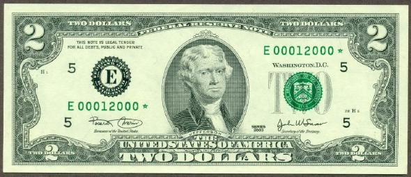 Rumor Two Dollar Bills Are Considered Unlucky In The U S