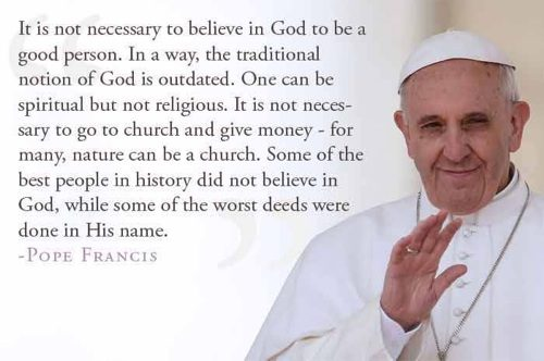 Fact Check Did Pope Francis Say Its Not Necessary To Believe In God