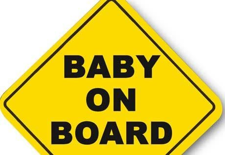 Suction Cup Sign Baby On Board Sign Child Sunglasses CHILD On Board Car Sign