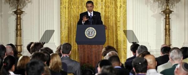 The Photograph Displayed Here Was Taken From A Press Conference Held By President In East Room Of White House On 27 May 2010 To Address Issues