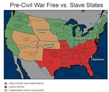 American Civil War States Map.Fact Check War Between The States