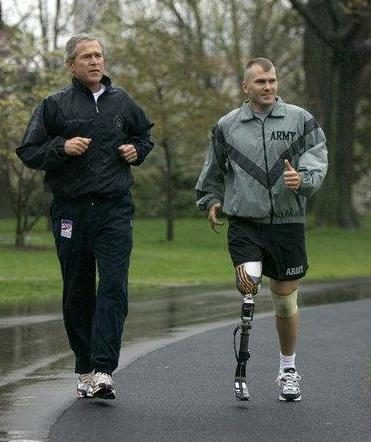 Sgt. Mike McNaughton & President Bush