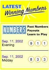 Sept 11 Lottery Coincidence
