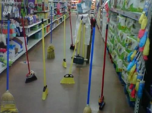 Image result for broom standing up