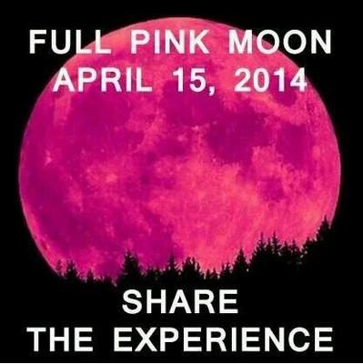 A Full Pink Moon On April 15 2017