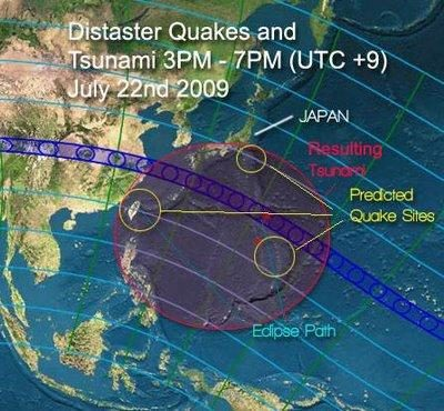 Tsunami prediction graphic
