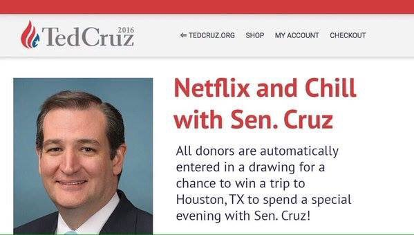 ted cruz netflix n chill