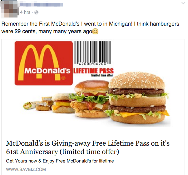 Free fast food coupons