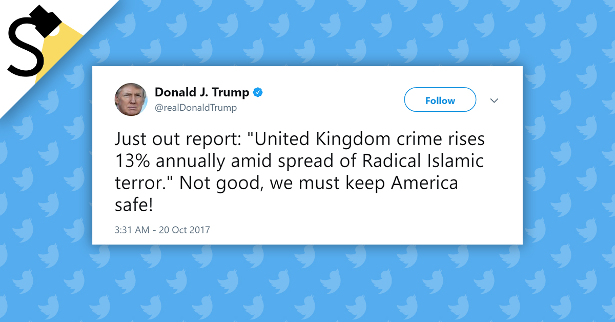 FACT CHECK: Is an Increase in Recorded Crime in England and Wales Linked to 'Radical Islamic Terror'?