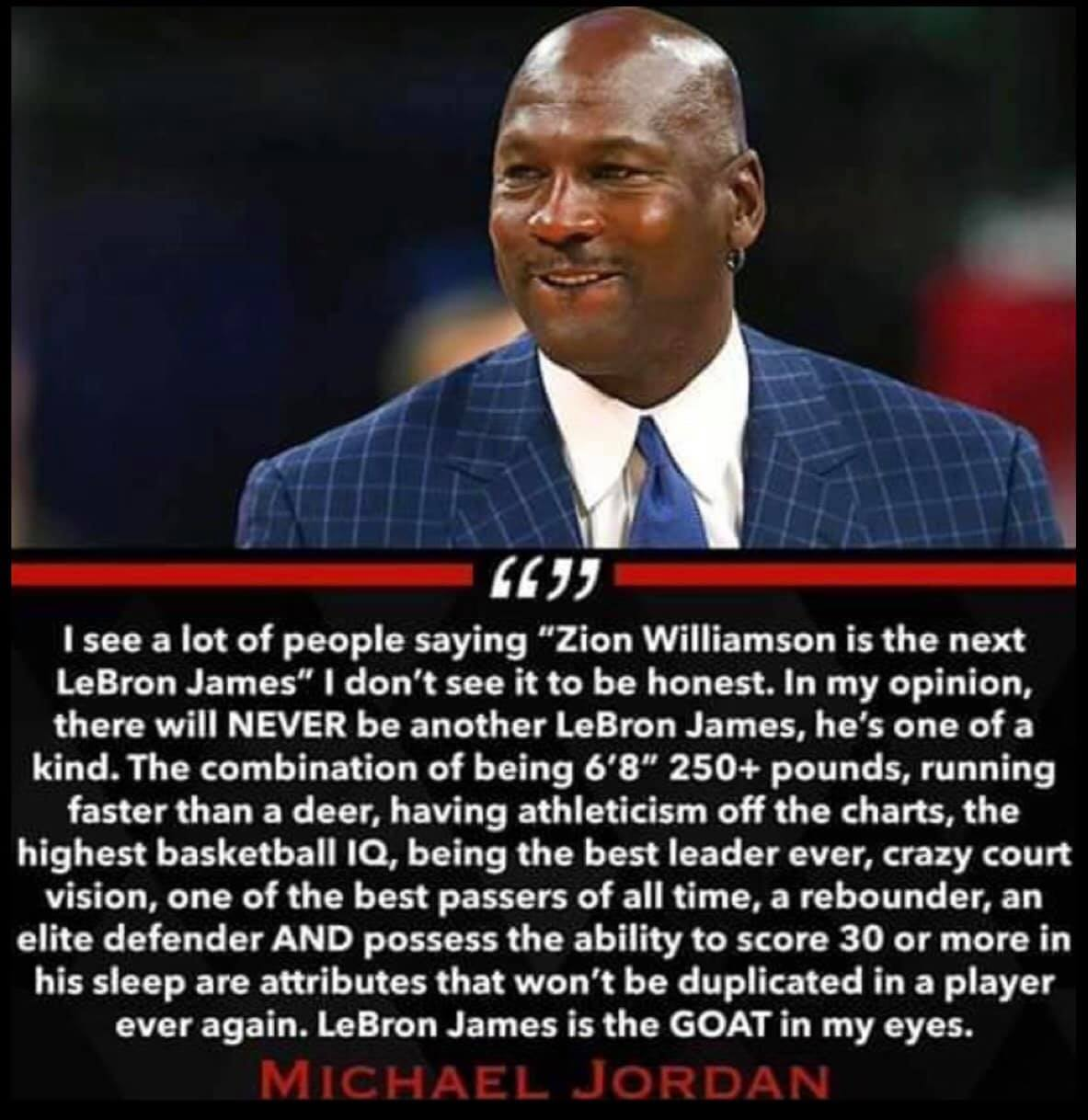 """9aab8bcdf77349 ... former Chicago Bulls superstar Michael Jordan settled the debate once  and for all when he stated that """"LeBron James is the GOAT  greatest of all  time  ..."""